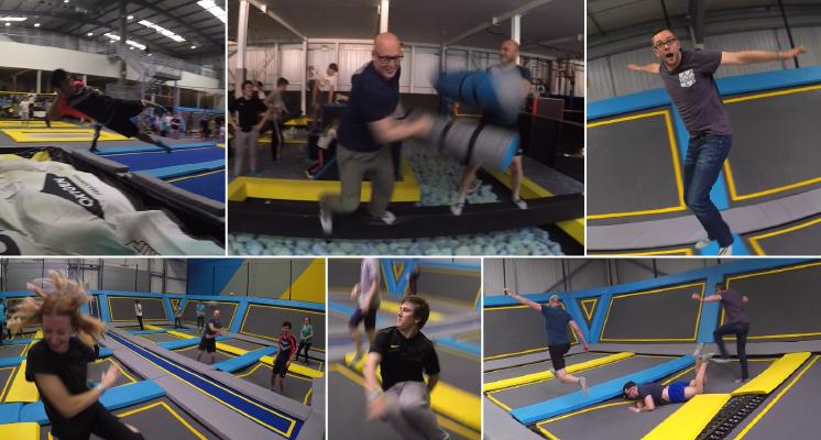 TDL team trampolining