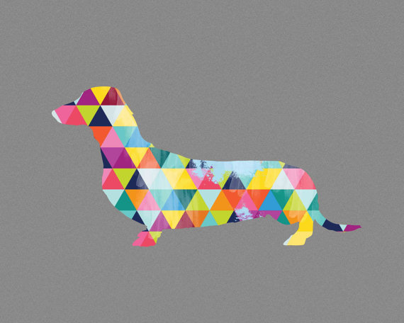 geometric-dachshund