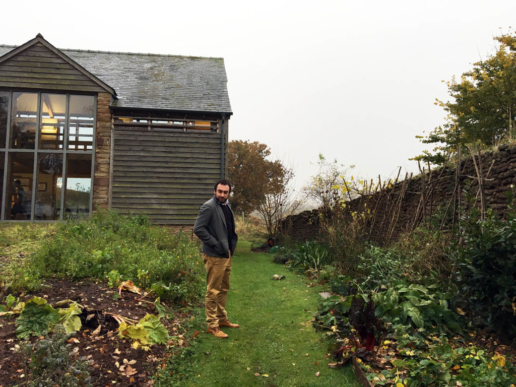 Mark shows me the team's vegetable patch – obviously not at its best in November, but it offers a welcome and rewarding break from work in the summer.