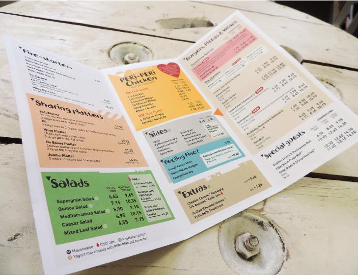 Nandos takeaway menu